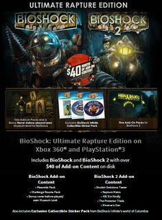Bioshock is one the best series of recent years and Metallman is giving away a copy of Bioshock the Ultimate Rapture Edition for the Xbox 360 or PS3! If you have already visited the city of Rapture, you may choose the alternate prize! The Art of Bioshock Infinite Hardcover book by Irrational Games!