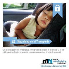Los asientos de #seguridad para niños pueden actuar como proyectiles en caso de un choque. Es recomendable guardarlos en caso de no estar usándolos. ¡Excelente día! #SeguridadenelTransporte