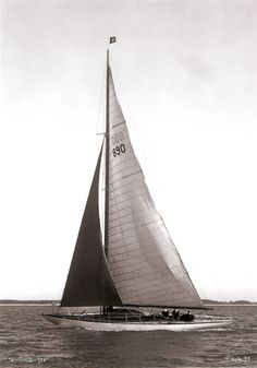 Solent, 1956, by Beken of Cowes