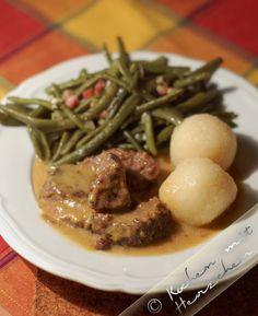 Kochen mit Herzchen - ♥ Mein Koch-Tagebuch mit viel Herz ♥: Hirschbraten mit Speckböhnchen