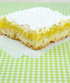 Lucsious Lemon Bars from Gonna Want Seconds No Bake Desserts, Dessert Recipes, Bar Recipes, Lemon Desserts, Yummy Treats, Sweet Treats, Tasty Snacks, Baking Recipes, Cookie Recipes