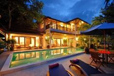 3 Bedroom Beach-side Villa with Private Swimming Pool For Holiday Rent at Lamai, Koh Samui