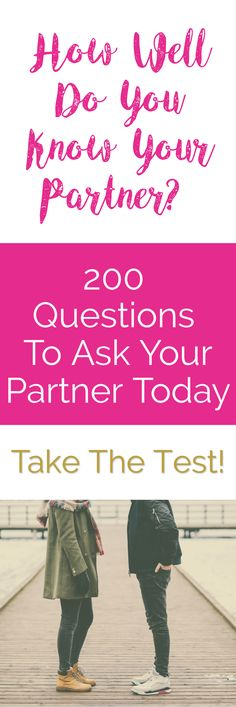 Want a closer relationship with your partner or better marriage? Here 200 questions that will strengthen your relationship today. Great advice and tips to save your marriage or relationship! | Relationship Tips | Marriage Advice | Best Relationship Advice Ever | Moms | Happy Relationships | Strengthen Your Love | Happy Valentines Days Idea | Love Quiz | Valentines Day Gifts For Him | Valentines Day Gifts For Her
