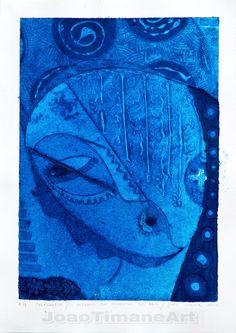 Pintura de João Timane artista de Moçambique. Título: o retrato da ministra do bem.