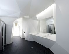 Architecture || faceted walls by Coniglio Ainsworth Architects, 2011 Corian® design awards Grand Prize Winner