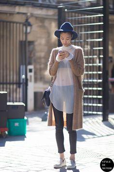 #New on #STYLEDUMONDE  http://www.styledumonde.com/  with @jihyeparkjhp #JiHyePark at #paris #fashionweek #pfw #ss15 #outfit #ootd #streetstyle #streetfashion #streetchic #snobshots #streetlook #fashion #mode #style
