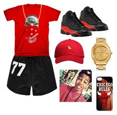 """""""Boy outfit"""" by bryebear ❤ liked on Polyvore featuring Boohoo, Retrò, October's Very Own, Versace and Fremada"""