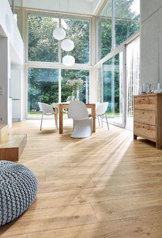 Master design: the design floor with all the advantages of vinyl. from meisterwerke schulte gmbh modern wood-plastic composite Linoleum Flooring, Wooden Flooring, Vinyl Flooring, Living Room Accents, Home Accents, Modern Hallway, Modern Office Design, Wood Design, Design Art
