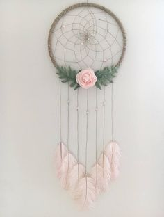 "14"" Pink Floral Dream Catcher"