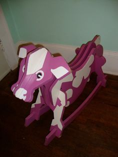 Shop for horse on Etsy, the place to express your creativity through the buying and selling of handmade and vintage goods. Purple Cow, Cows, All The Colors, Horses, Retro, Unique Jewelry, Handmade Gifts, Fun, Animals