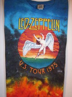 Led Zeppelin Icarus Fallen Angel US Tour 1975 Tie Dye T-Shirt TShirt Size 4XL #LiquidBlue #GraphicTee $21.59