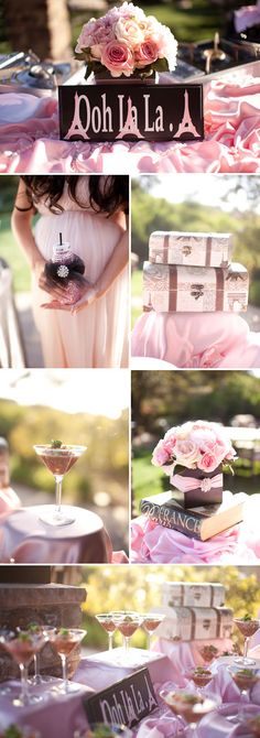 Pink and Black Paris Inspired Baby Shower