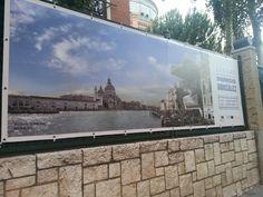 "Cartel de la exposición "" Around Dionisio González"" en la Sala Canal de Isabel II de Madrid. . #Cartel #Affiche #Arterecord 2013 https://twitter.com/arterecord"