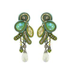 Handmade Necklaces, Handmade Jewelry, Fashion Earrings, Fashion Jewelry, Statement Earrings, Drop Earrings, Soutache Earrings, Wedding Tattoos, Polymer Clay Charms