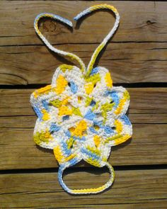 "One Crochet day at a Time ""BlueDragonFly Designs on a Hook"": STAR TOWEL HOLDER"