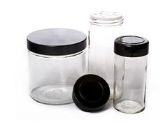 Spice jars with BLACK lids! Most seem to be white and would stand out to much as my cabinets are dark.