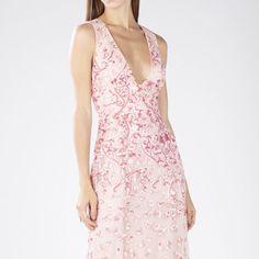 BCBG pink floral embroidered dress!