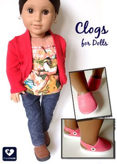 "Clogs 18"" Doll Shoes"