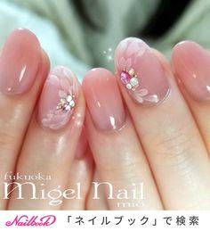 Wedding Nails-A Guide To The Perfect Manicure – NaiLovely Cute Acrylic Nails, Acrylic Nail Designs, Cute Nails, Pretty Nails, Nail Art Designs, Opi Gel Nails, Gem Nails, Pink Nails, Bridal Nails