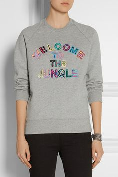Markus Lupfer - Welcome to the Jungle cotton-terry sweatshirt 5ef9f1d35d5e