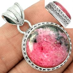Rhodonite 925 Sterling Silver Pendant Jewelry RDNP465