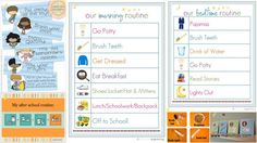 Morning, After School, Bedtime Routine Printables for Kids