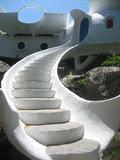 Maison Unal, Labeaume, France (escalier)