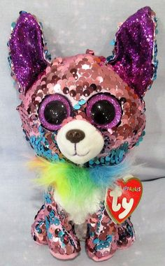 Large Beanie Boos, Beanie Boo Dogs, Beanie Babies, Ty Beanie Boos Collection, Ty Peluche, Beanie Boo Party, Ty Animals, Ty Babies, Cool Fidget Toys