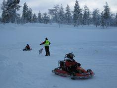 Friends from Russia in the Saariselkä - Ice Karting