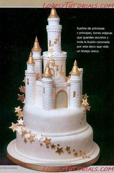 Master classes on sculpting Figure_making_tutorials - Master classes on cake decorating Cake Decorating Tutorials (How To's) Tortas Paso a Paso Fancy Cakes, Cute Cakes, Fondant Cakes, Cupcake Cakes, Amazing Cakes, Beautiful Cakes, Castle Birthday Cakes, Fairy Castle Cake, Disney Castle Cake