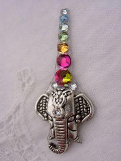 colorful elephant bindi