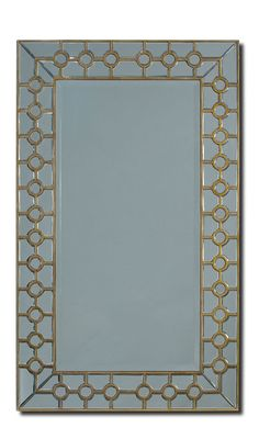 Contemporary Chain Of Circles Wall Mirror Rectangular Shape Free Shipping New #Contemporary