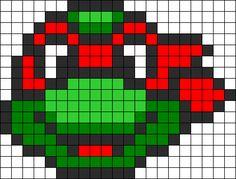 Raphael Ninja Turtle perler bead pattern