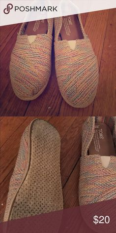Tom's shoes Tom's shoes, multicolor. Worn 3/4 times in the past 3 years TOMS Shoes Flats & Loafers
