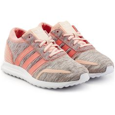 Adidas Originals Los Angeles Sneakers featuring polyvore, women's fashion, shoes, sneakers, rose, round toe sneakers, lightweight sneakers, low cut shoes, laced sneakers and adidas originals sneakers