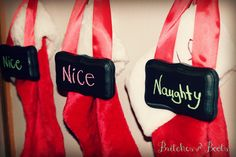 Britches & Boots : A Place I Call Home: Be CHRISTmas - Naughty or Nice deco's