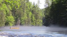 Morning mist on the Kennebec River in The Forks, #Maine