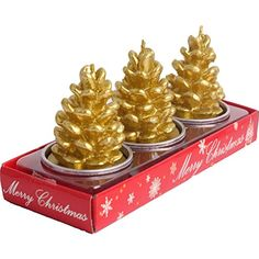 Christmas Candles, MoreTeam Handmade Pinecone Candles Set Decorative Single Wick Candles Cute Tealight Set of 3 Best Atmosphere for Hotel, Home, Christmas Gift, Party, 90 minutes burn time per one * Click on the image for additional details. (This is an affiliate link) #SeasonalDcor