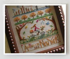 Autumn in New York cross stitch pattern by Primrose Needleworks at www.thecottageneedle.com