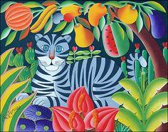 Grey Tiger & Fruit by Pierre Maxo