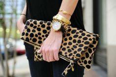 leopard handbag, purse, clutch - FashionFilmsNYC.com