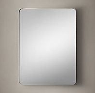 Bristol Flat Mirror - RH's Bristol Flat Mirror:Streamlined curves and a slim projection frame transform our minimalist mirror into a striking design element.