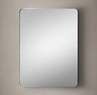 "Bristol Flat Mirror 24x36 satin nickel $ 495 on sale .  Mirror needs to be approx 27- 28"" tall, 20"" wide."