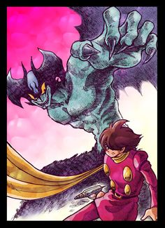 009 vs Devilman by Ziphon