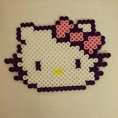 Hello Kitty hama beads by carolineemagdalena