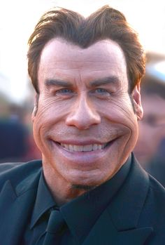 Trying out a new transformation tool in Photoshop on John Travolta.