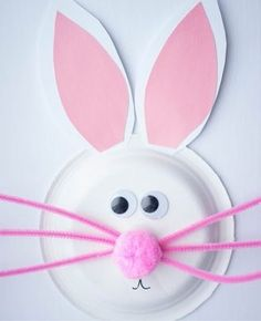 Easter crafts for toddlers – paper plate Easter bunny - Crafts For Toddlers Easter Crafts For Toddlers, Easy Easter Crafts, Easter Art, Paper Crafts For Kids, Toddler Crafts, Preschool Crafts, Paper Crafting, Easter Bunny, Craft Kids