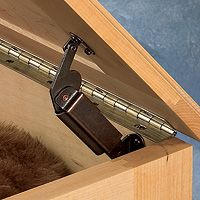 no pinch hinge for DIY toy chest $8.79 and add little tires for the handles John Deere