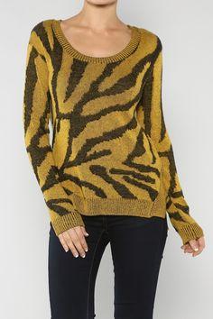 Zebra Acrylic Sweater #wholesale #fall #cardigan #sweater #pants #jacket #sweater #fashion #clothing #ootd #wiwt #shopitrightnow #graphics #patterns #costume #halloween