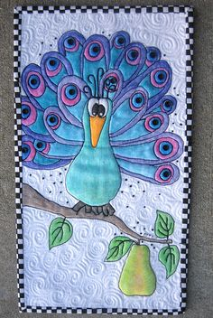 fabric crayons A Peacock in a Pear Tree by mamacjt, via Flickr   check out more examples on her flickr